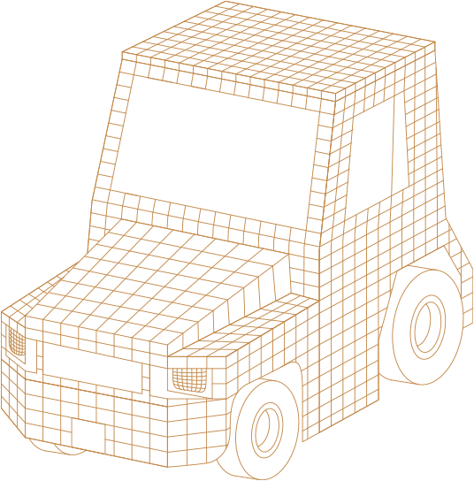 spear power vehicle wireframe